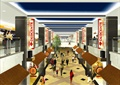 商业街,地面铺装,商业建筑,商业标志