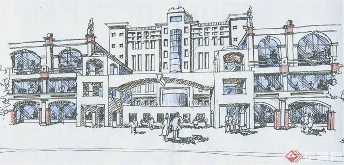 商业建筑,商铺,多层建筑