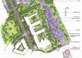 校園景觀規劃,河流景觀,學校建筑,園路,景觀樹,臺階,汀步,園橋
