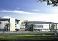 图书馆,文化建筑,景观树,草坪