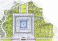 入口景觀,園路,大門,建筑,景觀樹