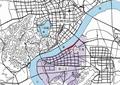 城市规划,河流景观,建筑,山体