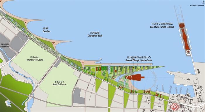滨海城市,海湾规划,城市规划,城市建设