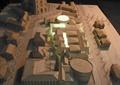 步行街,商业街,沙盘模型
