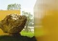 景石石头,挡墙,围墙,草坪