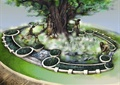 树池,抽象画,树池池塘
