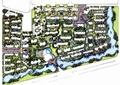 住宅小区规划,河流景观,住宅建筑,道路,景观树,住宅景观
