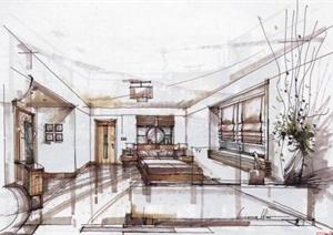 121张室内与建筑设计JPG手绘图片