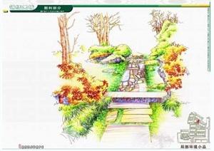 多种园林景观节点手绘效果图jpg格式