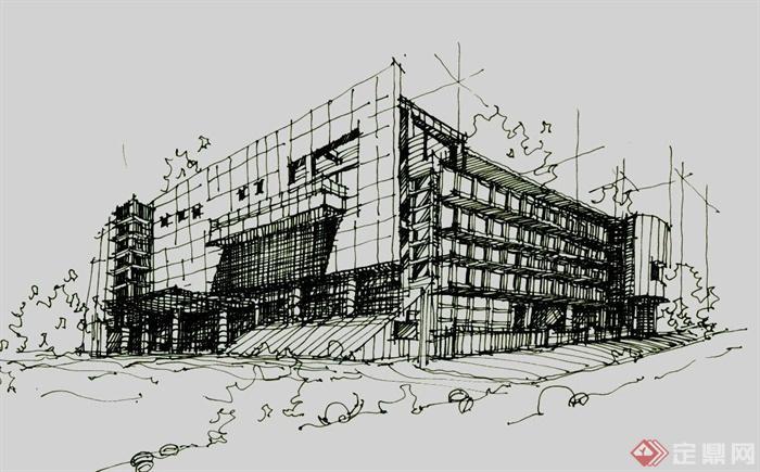 多张手绘建筑设计JPG方案图(3)