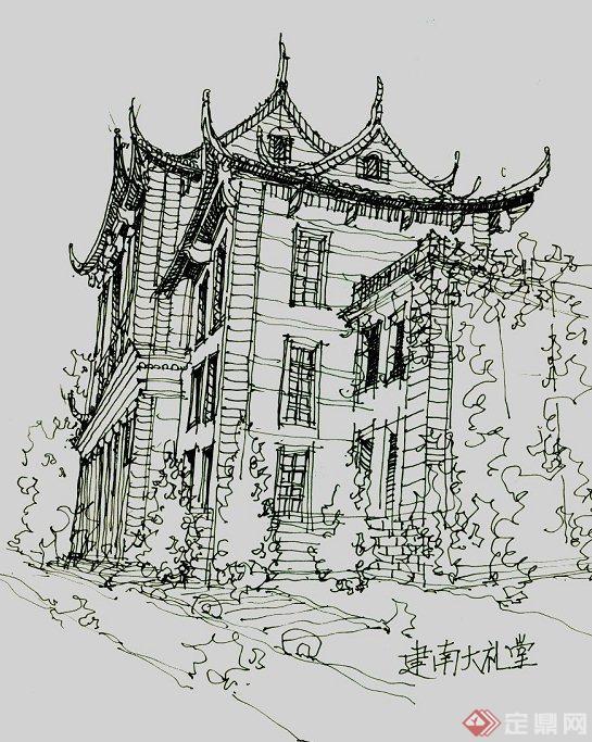 多张手绘建筑设计JPG方案图(2)