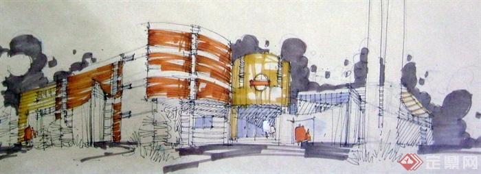 多张手绘建筑设计JPG方案图(5)