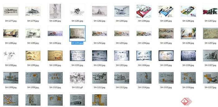 多张手绘建筑设计JPG方案图(6)