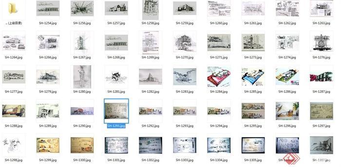 多张手绘建筑设计JPG方案图(7)