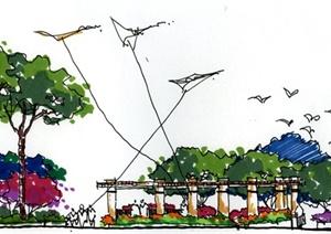 手繪植物景觀設計JPG圖