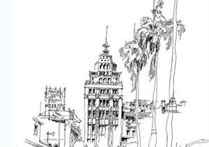 手绘建筑方案设计JPG图