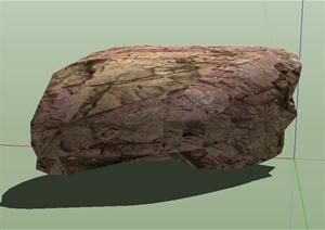 一组石头SU(草图大师)模型