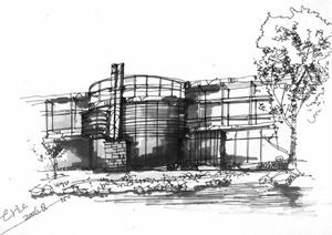 多张手绘建筑方案设计JPG图