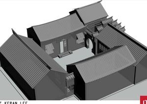 古典中式四合院建筑设计PDF图