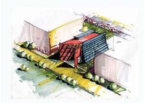 多种不同风格的手绘建筑jpg图