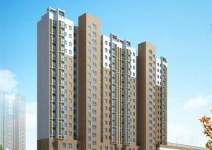 高层小区建筑效果图及小区平面图
