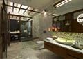 卫生间,卫浴柜,台盆,壁灯,卫浴镜,淋浴间,马桶