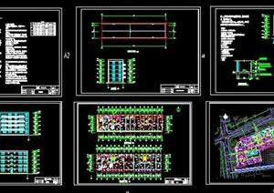 五层框架住宅楼(两单元一梯两户)毕业设计-3285平(含建筑结构图及设计任务书计算书)