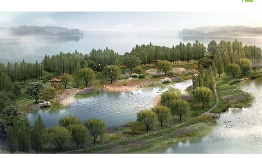 鹿邑县涡河湿地公园景观设计