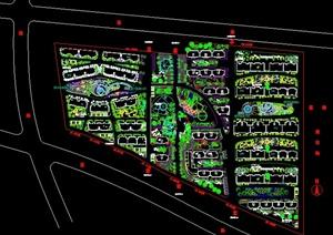 某小区景观植物设计总平面图