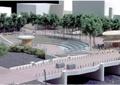 园桥,栏杆,河流景观,景观树,台阶