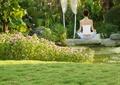 草坪,花卉植物,水池景觀,景石,景觀樹,住宅景觀
