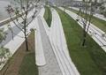 园路,台阶,地面铺装,草坪,景观树
