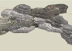 石头景石SU(草图大师)模型