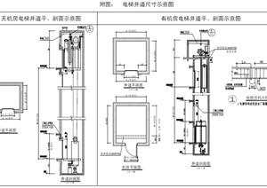 电梯井道尺寸示意图pdf格式