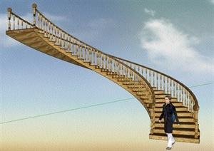 4款旋转楼梯SU(草图大师)模型