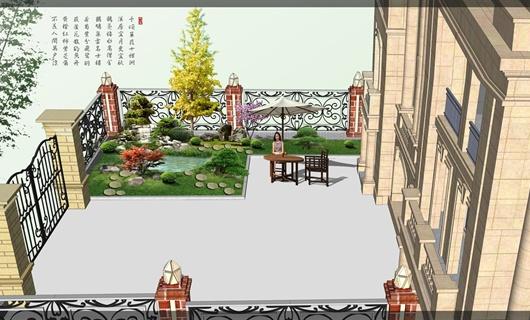 某别墅区庭院景观效果图