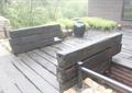 木桥,木栏杆,陶瓷管