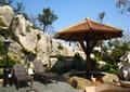 路灯,伞亭,躺椅,景石假山,自然石,石头