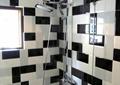 背景墙,花洒,窗子,浴室,住宅空间