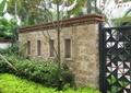 景墻,鐵藝門,景觀樹,灌木叢,住宅景觀