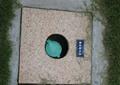 清潔取水點,標示牌,地磚,草坪