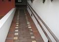 无障碍坡道,栏杆,矮墙,地面铺装