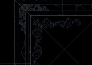 欧式地花设计CAD方案图