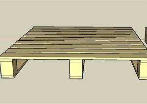 方形物流标准货盘设计SU(草图大师)模型