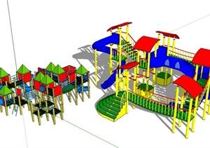 儿童游乐设施SU(草图大师)模型设计