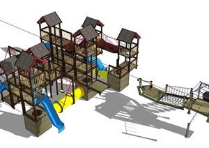 现代儿童游乐设施设计SU(草图大师)模型