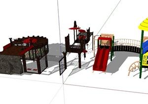 儿童游乐场所设施设计SU(草图大师)模型