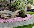 園路,地面鋪裝,花卉植物,景石,置石,草坪,景觀樹,庭院景觀