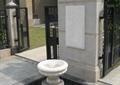 喷泉台,地面铺装,景墙,围墙,庭院门,铁艺大门,住宅景观