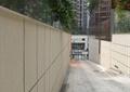 通道,地面鋪裝,圍墻,玻璃欄桿,入口景觀